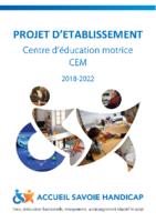 Plaquette de présentation Projet d'établissement CEM 2018-2022