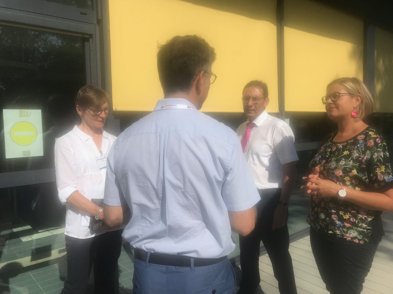 Raphaël Glabi et Catherine Gini  visitent Accueil Savoie Handicap