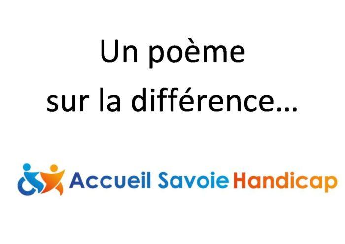 «Différence» : un poème composé par Alice