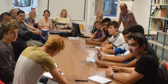 Projet Erasmus + : visite des étudiants du lycée du Nivolet au CEM