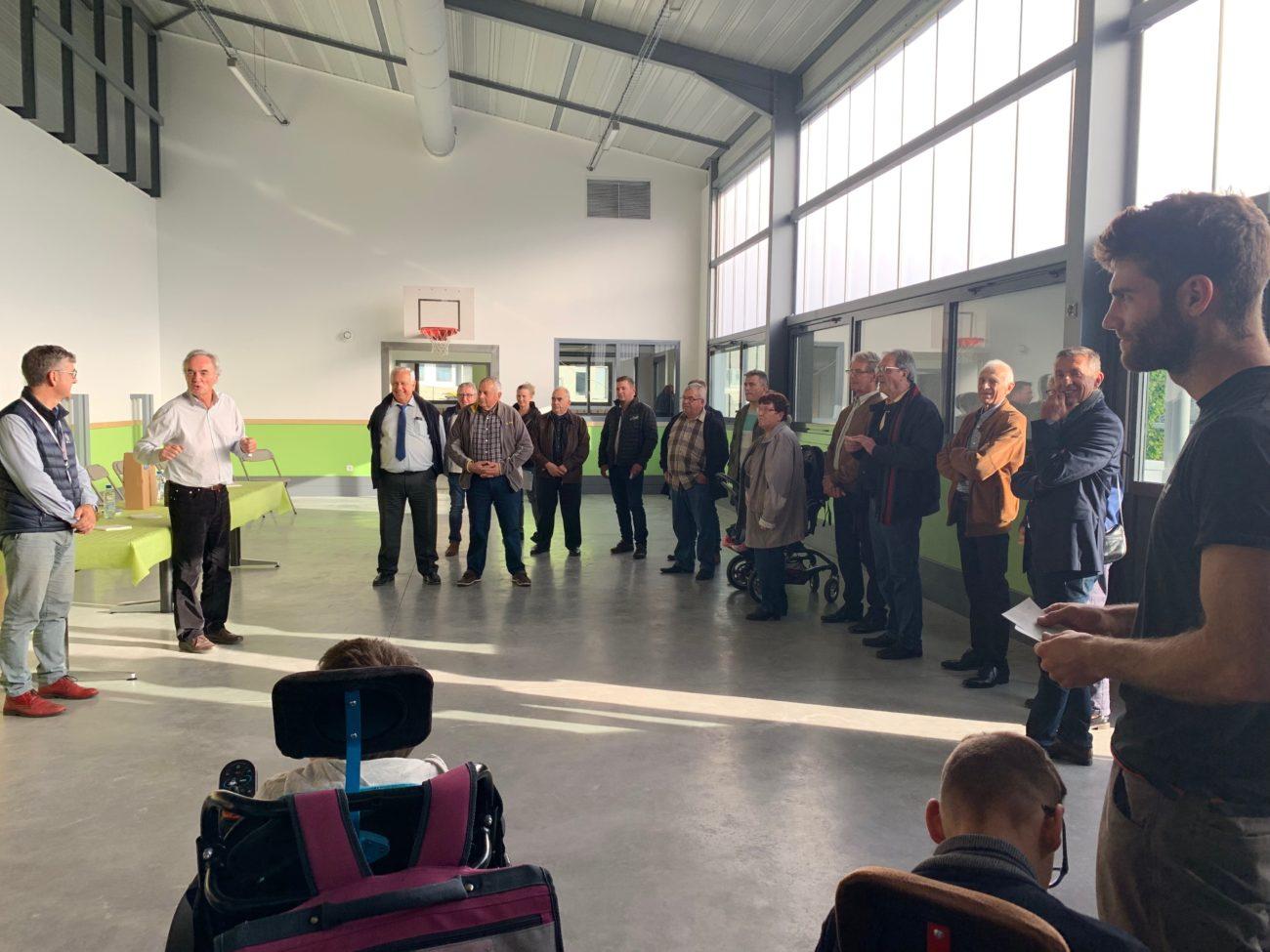 Remise de dons de la confrérie des diots et inauguration du bâtiment multi-activités