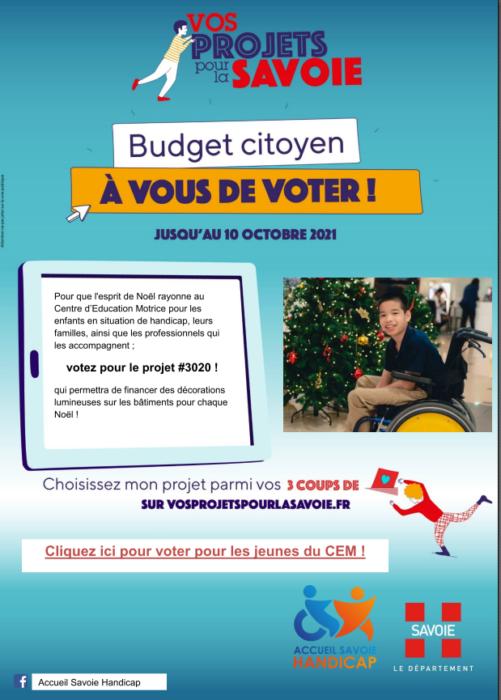 Budget citoyen : votez pour les jeunes du CEM !